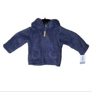 Carters Infant boys Blue Zip Sweater Size 9 Months